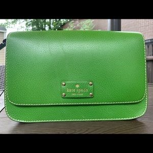 Green Kate spade shoulder or cross-body purse bag